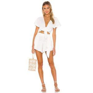 NWT ANAAK Brigette Petal Shorts in White Sz. 0/XS